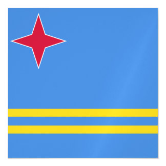 Aruba Flag Magnetic Invitations