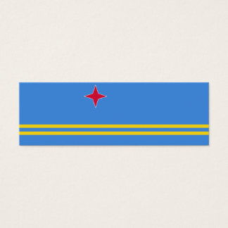 Aruba Flag Mini Business Card