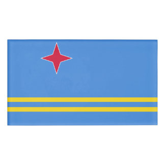Aruba Flag Name Tag