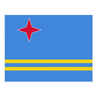 Aruba Flag Postcard