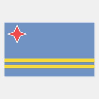 Aruba Flag Rectangle Stickers