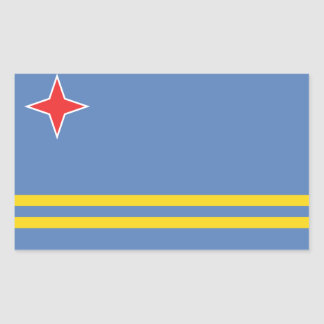 Aruba Flag Rectangular Sticker