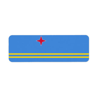 Aruba Flag Return Address Label