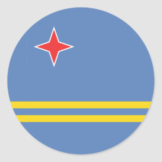 Aruba Flag Round Stickers
