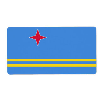 Aruba Flag Shipping Label