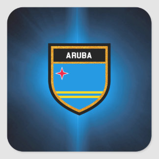 Aruba Flag Square Sticker