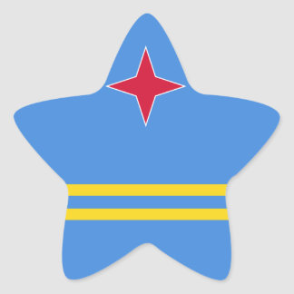 Aruba Flag Star Sticker