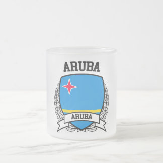 Aruba Frosted Glass Coffee Mug