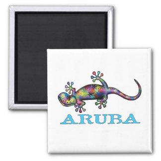 Aruba gecko magnet