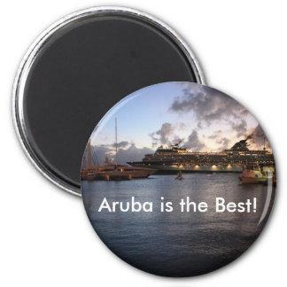 Aruba is the Best! 6 Cm Round Magnet