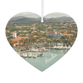 Aruba Marina Heart shaped Car Air Freshener