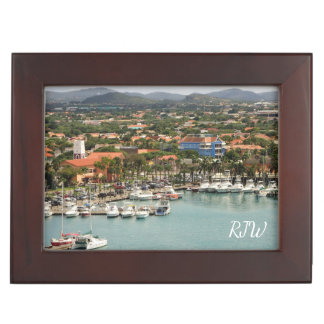 Aruba Marina Monogrammed Keepsake Box