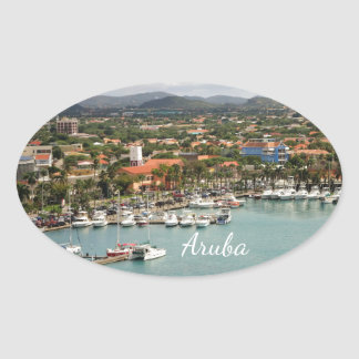 Aruba Marina Oval Oval Sticker