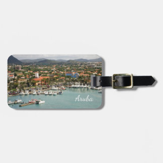 Aruba Marina Personalized Luggage Tag