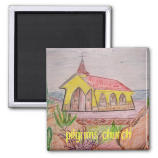 Aruba pilgrims church magnet