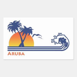 Aruba Rectangular Sticker
