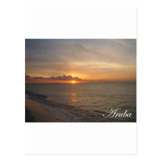 Aruba Sunset 2 Postcard