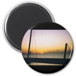 Aruba Sunset Honeymoon 6 Cm Round Magnet