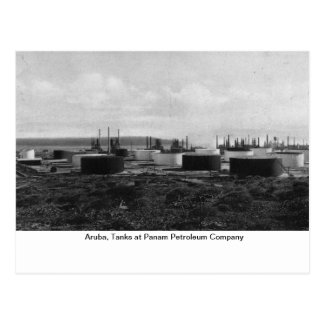 Aruba, Tanks at Panam Petroleum Company Postcard