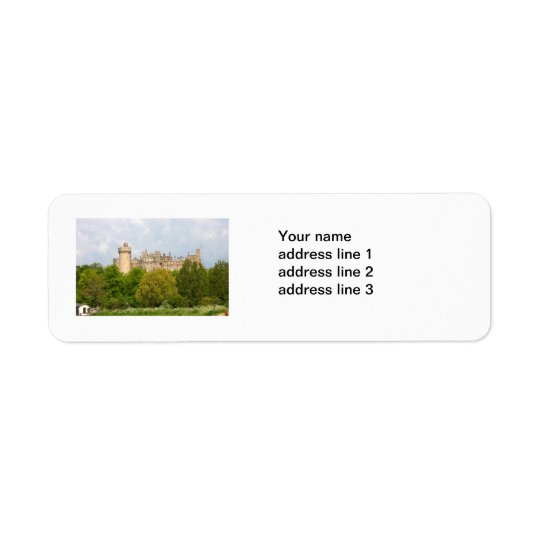 Arundel Castle photo custom address labels