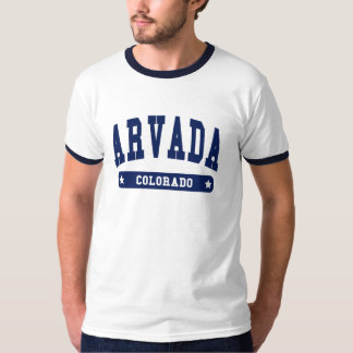 Arvada Colorado College Style t shirts