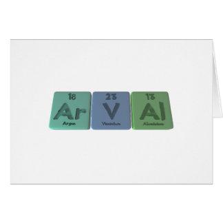 Arval-Ar-V-Al-Argon-Vanadium-Aluminium Greeting Card