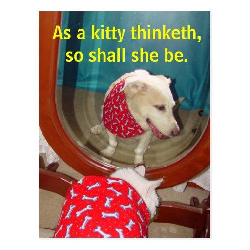 As a kitty thinketh... postcards