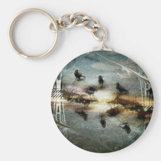 As Above Crow Below Original Peace Key Chain