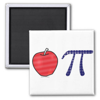 As American as Apple Pi Square Magnet