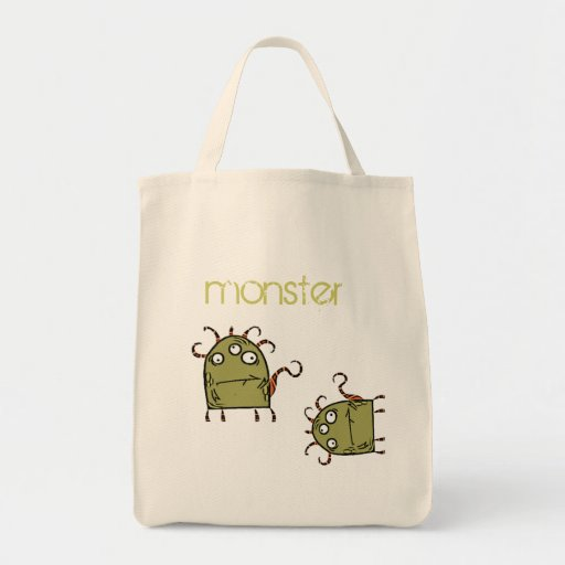 as, as, green monster canvas bag