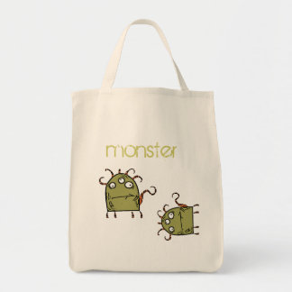 as, as, green monster grocery tote bag