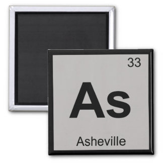 As - Asheville North Carolina Chemistry Symbol Square Magnet