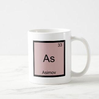 As - Asimov Funny Chemistry Element Symbol Tee Basic White Mug