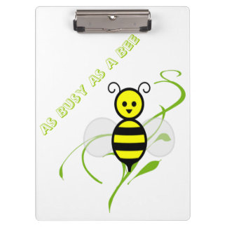 As Busy As A Bee Clipboards