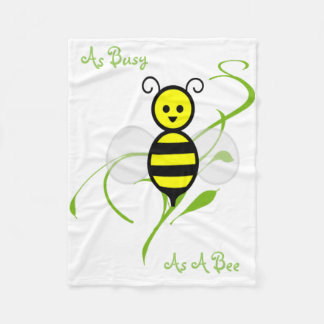 As Busy As A Bee Fleece Blanket
