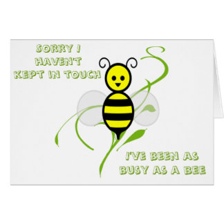 As Busy As A Bee Greeting Card