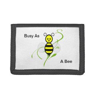 As Busy As A Bee Honeybee Tri-fold Wallets