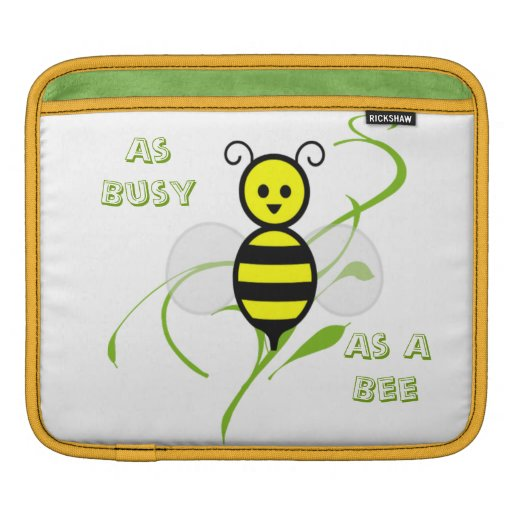 As Busy As A Bee iPad Sleeves