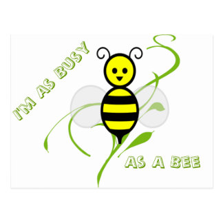 As Busy As A Bee Postcard
