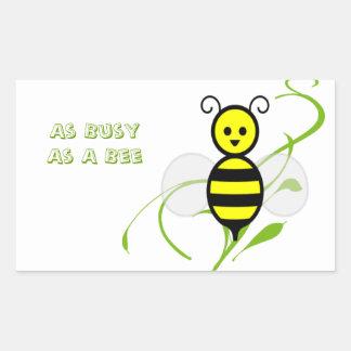 As Busy As A Bee Rectangular Sticker