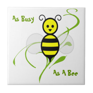 As Busy As A Bee Small Square Tile