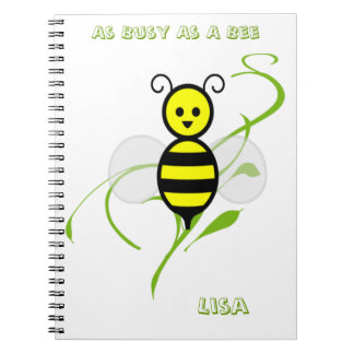 As Busy As A Bee Spiral Note Books