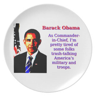 As Commander-In-Chief - Barack Obama Plate
