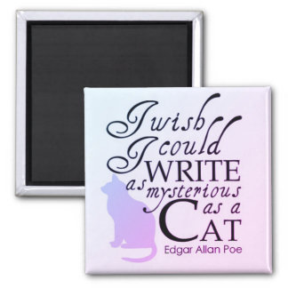 As Curios as a Cat Square Magnet