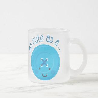 As Cute As A Button Blue Mugs