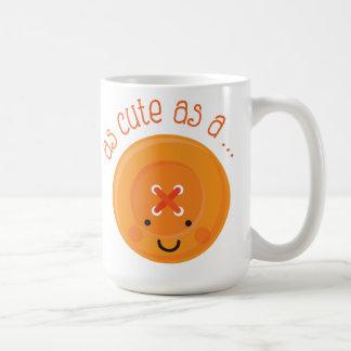 As Cute As A Button Orange Mugs