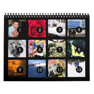 As Easy as 1 to 12 Your Own Black Photo Calendar