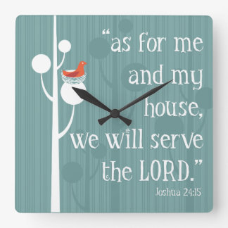 As For Me and My House Square Wall Clock