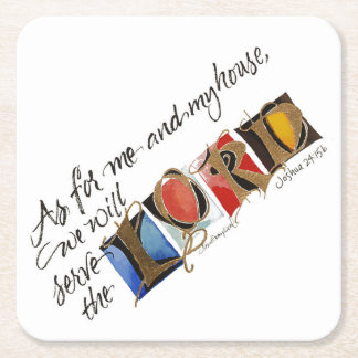 As For Me by Lyn Graybeal Square Paper Coaster