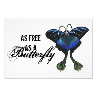 As free as a Butterfly Peacock Butterbird Feelings Art Photo